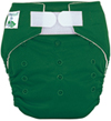 Tiny Tush Elite 2.0 One Size Pocket Diaper Aplix Kelly Green