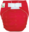 Tiny Tush Elite 2.0 One Size Pocket Diaper Aplix Red