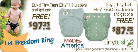 Tiny Tush Summer Splash Cloth Diapering Specials