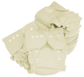 Organic Cotton Trim One Size Cloth Diaper