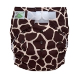 Tiny Tush Elite 2.0 One Size Pocket Diaper Aplix Giraffe