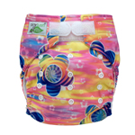 Tiny Tush Elite 2.0 One Size Pocket Diaper Aplix Sunset