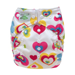 Tiny Tush Elite 2.0 One Size Pocket Diaper Snap Cupid