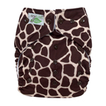 Tiny Tush Elite 2.0 One Size Pocket Diaper Snap Giraffe