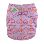 Tiny Tush Elite 2.0 One Size Pocket Diaper Snap Sweetheart