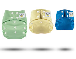 Tweedle Bugs One Size Snap Pocket Diapers Including Insert & Doubler
