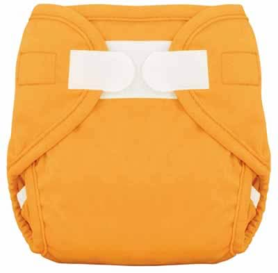 Tiny Tush Diaper Cover Orange Aplix