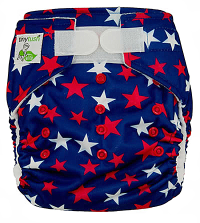 Star Spangled One Size Pocket Diaper Aplix Cloth Diaper