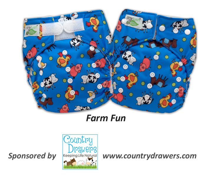 New One Size Pocket Diaper Print - Farm Fun