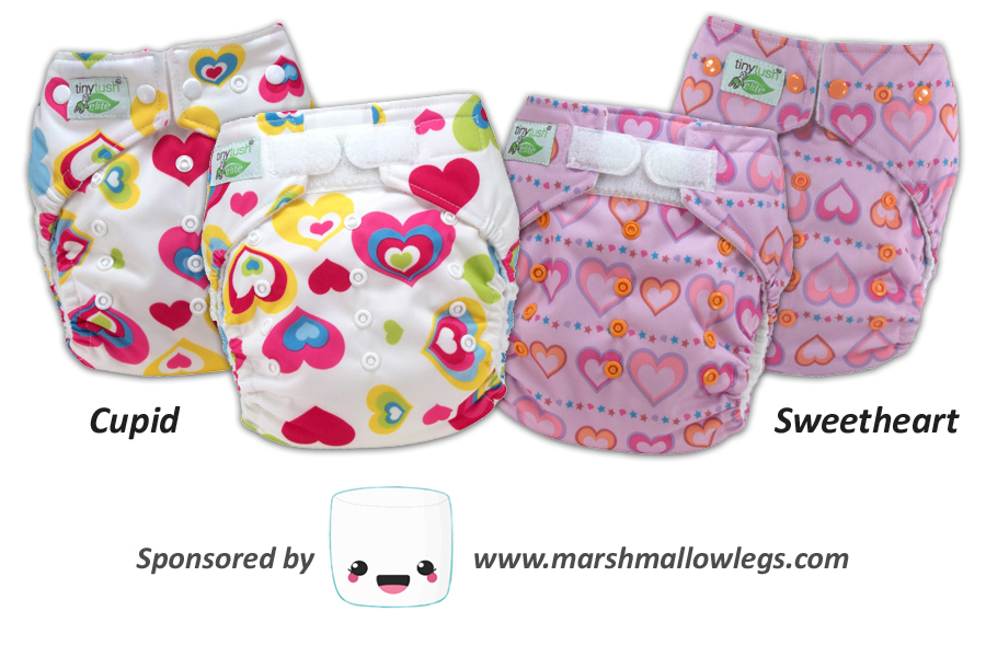 New One Size Pocket Diaper Prints - Cupid & Sweetheart