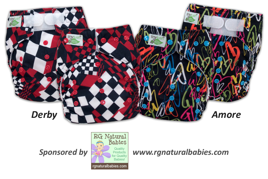 One Size Pocket Diaper Derby and Amore