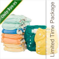 Tiny Tush Exclusive Cloth Diapering Package