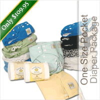 Tweedle Bugs One Size Pocket Diaper Package