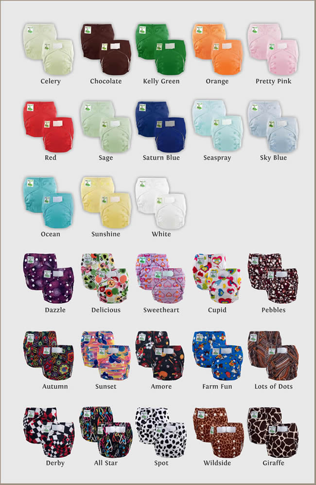 Elite Mini Pocket Diapers Cloth Diapers In Vibrant Colors
