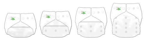 Snap One Size Pocket Diapers Adjustable To Many Sizes