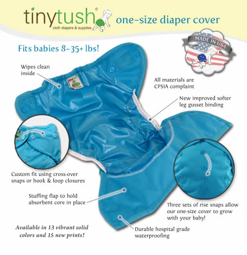 Features Of The Tiny Tush One Size Diaper Covers