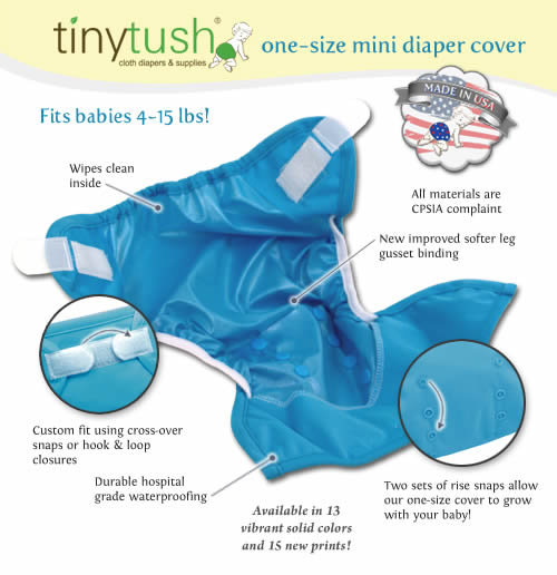 One Size Mini Newborn Diaper Cover