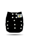 Black Tweedle Bug One Size Pocket Diaper
