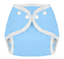 Tweedle Bugs Sized Diaper Cover Snap Sky Blue
