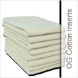 "This absorbent insert is truly unique and was designed to be absorbent, easy to launder and quick drying. It is a rectangular shaped, 100% cotton, two ply insert 10"" wide x 16.5"" long."