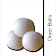 Use  4 to 6 of our popular wool dryer balls to decrease the drying time of your laundry by up to 40%