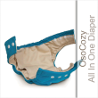 Each OsoCozy fitted cloth diaper includes a soft and absorbent soaker pad sewn in just below the waist line. The sewn in soaker pad design helps allow for easier laundering