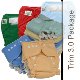 Tiny Tush Trim 3.0 Cloth Diaper Package With One Size Cloth Diapers and One Size Diaper Covers