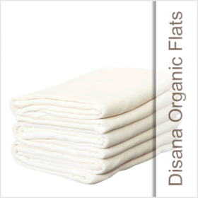 "Disana's 31.5"" x 31.5"" Organic Cotton Muslin Flat diapers are woven from the softest organic cotton. The simple design allows for easy folding to fit baby sizes newborn to toddler."
