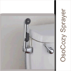 Use the OsoCozy Diaper Sprayer as a useful tool to make diaper laundering much easier.  When you use this diaper sprayer you can rinse the soiled diaper into the toilet without getting your hands messy.
