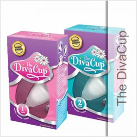 The DivaCup is a reusable, bell-shaped menstrual cup that is worn internally and sits low in the vaginal canal, collecting rather than absorbing your menstrual flow