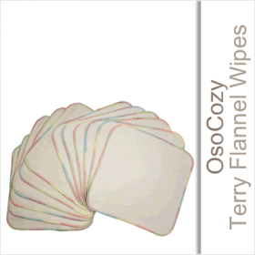 OsoCozy Terry Flannel Baby Wipes