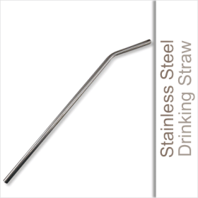 Are you looking to add a little fun to your drink?  Look no further than these stainless steel straws.  Designed with a slight bend at the neck and is slightly longer than a typical disposable straw allowing them to fit more variety of shapes and sizes of glasses.