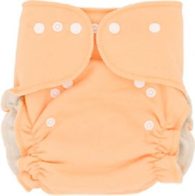 Cotton Tiny Tush Trim 3 One Size Diaper Snap Orange
