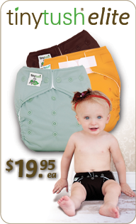Tiny Tush Elite One Size Pocket Diaper Cloth Diapers only 17.95