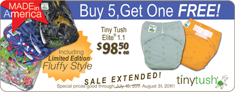 Let freedom ring with Elite One Size cloth pocket diapers and diaper covers from Tiny Tush Made In USA