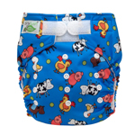 Tiny Tush Elite 2.0 One Size Pocket Diaper Aplix Farm Fun
