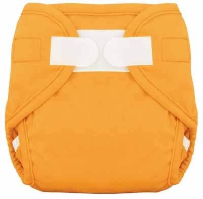 Tiny Tush Diaper Cover Orange Aplix