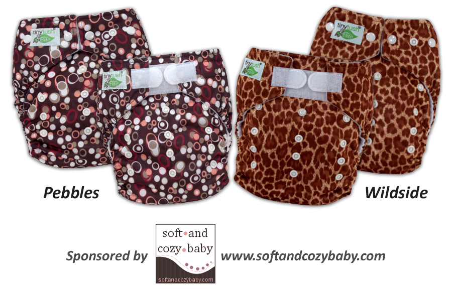 Pebbles and Wildside One Size Pocket Diapers