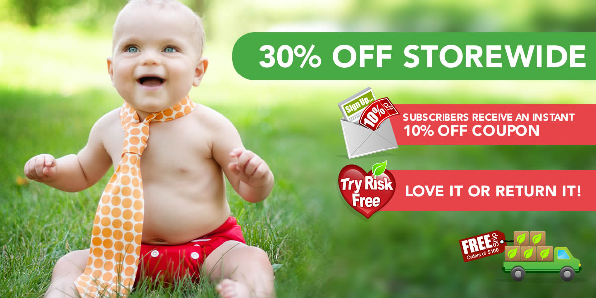 Tiny Tush Cloth Diapers And Cloth Diapering Supplies Specials and Sales