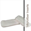 Absorbent microfiber inserts are designed to be absorbent, easy to launder and quick drying. They are rectangular shaped, three ply and available in pairs or individual sizes.