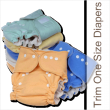 Clearance Sale On Tiny Tush Trim One Size Cloth Diapers