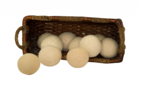 Basket of  Wool Dryer Balls