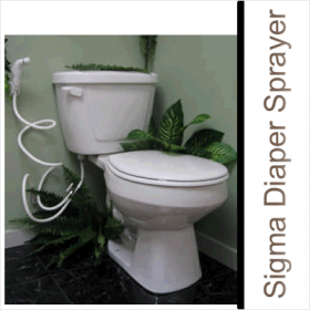 Sigma Diaper Sprayers have been engineered with an easy to use leak free design