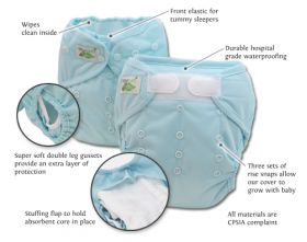 Custom create your own one-size hybrid diaper system and save yourself a ton of money! Our cover will work with every fitted diaper and insert on the market! Stay-dry inserts, prefolds, flats, fitteds...our cover has got you covered!