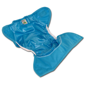 Tiny Tush's one-size diaper covers with extra leg gussets are sure be your go-to cover. They come in you choice of Aplix or matching snap closures.